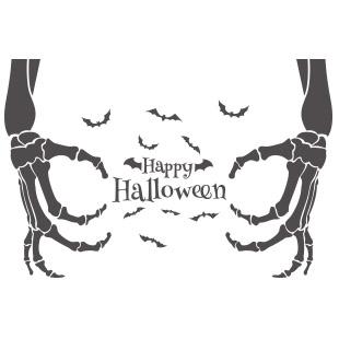 Sticker Vitrine Halloween Deco Vitrine Halloween