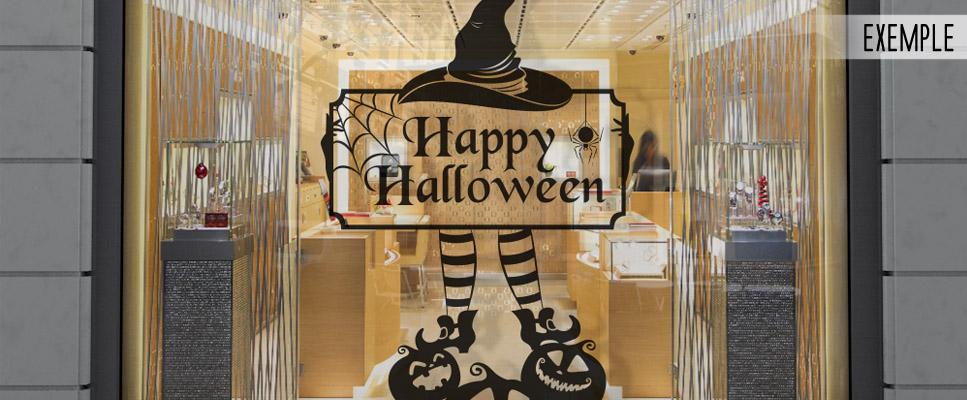 Deco Vitrine Halloween 1001stickersvitrine Com