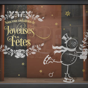 Tous nos nouveaux stickers vitrine - Joyeuses fetes magasin ...