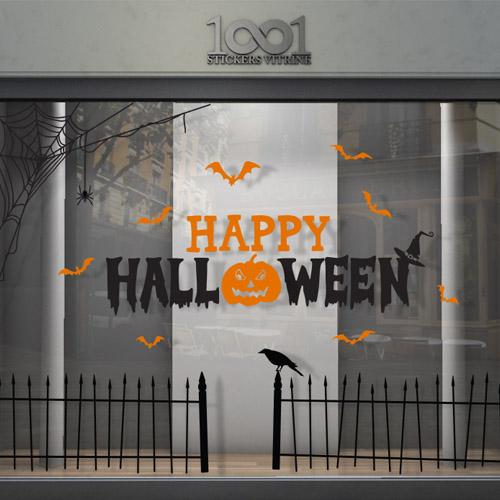 Sticker Vitrine Decor Halloween 1001stickersvitrine Com
