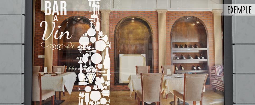 Sticker vitrine bar à vin