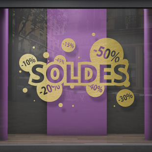 sticker Soldes Bubble