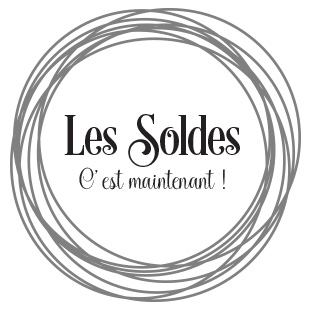 sticker vitrine Soldes tourbillon