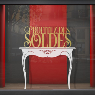 Soldes console baroque