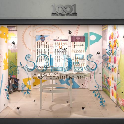 vitrophanie soldes soldes deco florale. Black Bedroom Furniture Sets. Home Design Ideas
