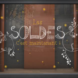sticker vitrine soldes imaginez des soldes. Black Bedroom Furniture Sets. Home Design Ideas
